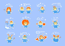 Zodiac signs characters Stock Photography