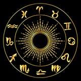 Zodiac signs circle Royalty Free Stock Photo