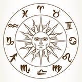 Zodiac signs circle Royalty Free Stock Image