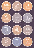Zodiac signs colorful Stock Images