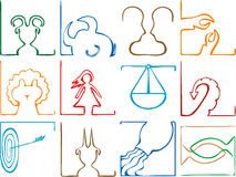 Zodiac signs concept Royalty Free Stock Photography