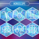 Zodiac signs and constellation Royalty Free Stock Photos
