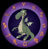 Zodiac signs. A dragon Royalty Free Stock Images