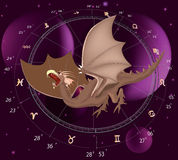 Zodiac signs. A dragon Royalty Free Stock Photo