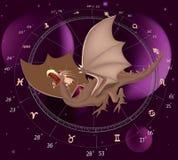 Zodiac signs. A dragon Royalty Free Stock Photo