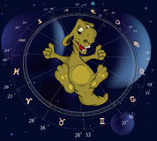 Zodiac signs. A dragon Royalty Free Stock Photography