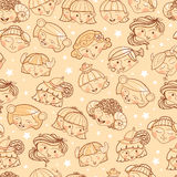Zodiac signs girls seamless pattern background Royalty Free Stock Photography