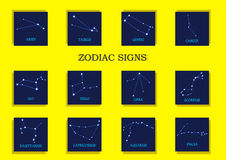 Zodiac signs royalty free illustration