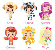 Zodiac signs Icon set part 1 Stock Image