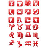 Zodiac signs icons Stock Photos