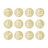 Zodiac signs icons for horoscopes, predictions Royalty Free Stock Photography