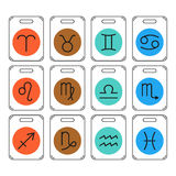 Zodiac signs icons for horoscopes, predictions Royalty Free Stock Image