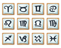 Zodiac Signs And Icons Set Stock Images