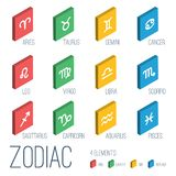 Zodiac signs icons Stock Images