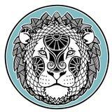 Zodiac signs - Leo. Decorative  ornament of the zodiac sign Leo Stock Photography