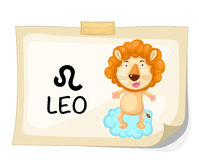 Zodiac signs - Leo Royalty Free Stock Images
