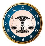 Zodiac signs - Libra.Tattoo design Royalty Free Stock Image