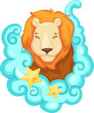 Zodiac signs - Lion stock image