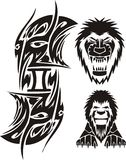 Zodiac Signs - lion. Vinyl-ready vector set. Royalty Free Stock Images