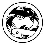 Zodiac Signs Pisces Fish Icon. A Pisces fish horoscope astrology zodiac sign icon Stock Photos