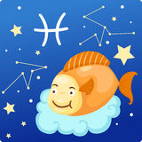 Zodiac signs - Pisces. Illustration zodiac signs - pisces Royalty Free Stock Photos