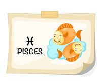 Zodiac signs - Pisces Stock Images