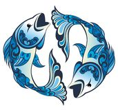 Zodiac signs - Pisces. Pisces tattoo  zodiac astrology horoscope  sign Stock Photography