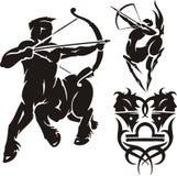 Zodiac Signs - sagittarius. Vector set. Royalty Free Stock Image