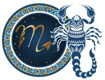 Zodiac signs - Scorpio. The Horoscope circle with zodiac signs  Scorpio Stock Image