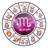 Zodiac signs - scorpio Stock Photo