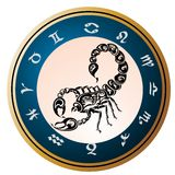 Zodiac signs - Scorpio.Tattoo design. Stock Photography