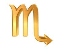 Zodiac signs Scorpio on a white background Royalty Free Stock Photo