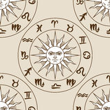 Zodiac signs seamless pattern Royalty Free Stock Photo