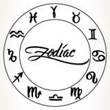 Zodiac signs set Royalty Free Stock Image