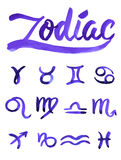Zodiac signs set Stock Photography