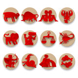 Zodiac signs set Stock Image