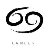 Zodiac signs-12. Zodiac sign Cancer isolated on white background. Design element for flyers or greeting cards Royalty Free Stock Images