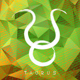 Zodiac signs-06. Zodiac sign Taurus on grunge background. Design element for flyers or greeting cards Stock Photo