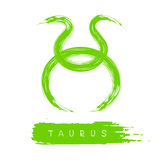 Zodiac signs-09. Zodiac sign Taurus isolated on white background. Design element for flyers or greeting cards royalty free illustration