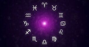 Zodiac Signs in the space