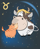 Zodiac Signs Taurus Cartoon Royalty Free Stock Photography