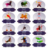 Zodiac signs. Stock Photography