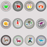 Zodiac signs. Signs of the zodiac , vector illustration Royalty Free Stock Images