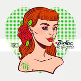 Zodiac signs - Virgo Stock Images
