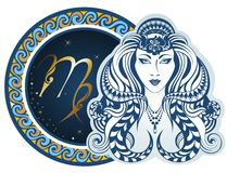 Zodiac signs - Virgo. Decorative ornament of the zodiac sign Virgo Stock Images