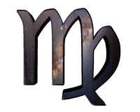 Zodiac signs Virgo on a white background Stock Photo