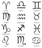 Zodiac signs on a white background Royalty Free Stock Photo