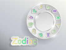 Zodiac signs. Zodiac circle. Stock Image
