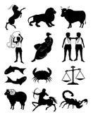 Zodiac silhouette Stock Image