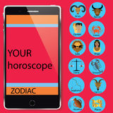 Zodiac and smartphone Stock Image